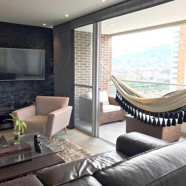 macrame hammock in balcony